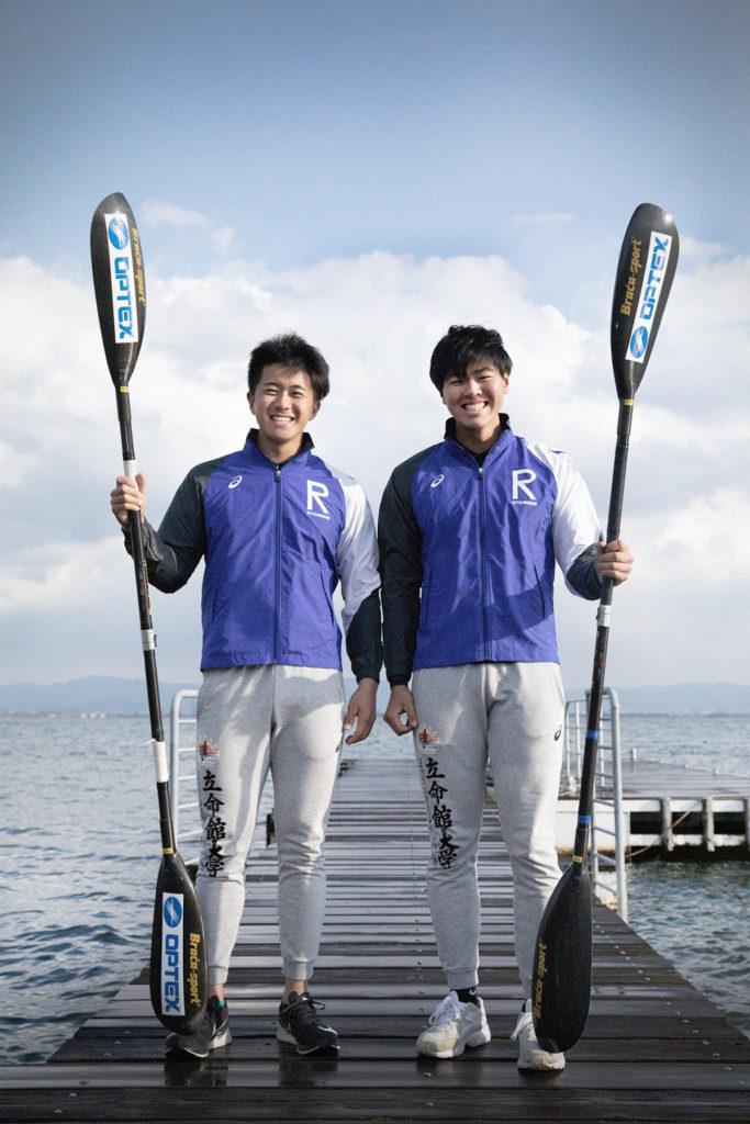カヌースプリント 今西陸人(左)と遠藤環太(右) オーパルにて