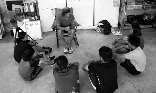 オーパルカヌーチームのミーティング